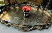 Antique English Silver Plate Gallery Tray