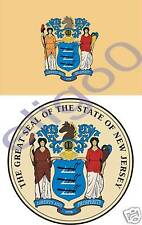 NEW JERSEY State Flag + SEAL 2 bumper sticker decal USA