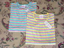 *NWT* 2 Girls TCP Striped S/S Tops Blue Yellow Sm 5/6