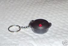New Tupperware Keychain Heat N Serve Cosmos Black with Red Vent NIP