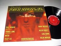 VARIOUS ARTISTS Famous Torch Songs Of The 20's COLUMBIA NM- Sarah Vaughan