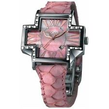 Locman Italy Women's 181SMOPPKD DIAMOND Pink MOP Date Leather Watch