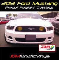 13-14 Mustang GT Fog Light Yellow Overlays Tint Vinyl Film JDM DRL EDM SVT