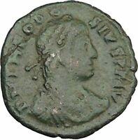 THEODOSIUS I the Great  RARE 383AD Ancient  Roman Coin Victory Cult  i39093