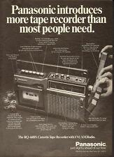 1974 Print Ad for Panasonic`RQ-448S Cassette Tape Recorder`Radio (040214)