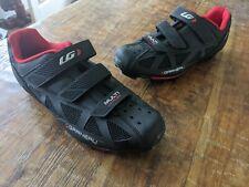 Mens Louis Garneau cycling shoes multi air flex HRS-80 black/red size 44 USA 9.5