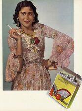 """""""CIGARETTES GITANES"""" Tirage original héliochromie entoilé pour annonceur 1938"""