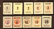 GERMAN AREA - MEMEL Sc N60-69 LH ISSUE OF 1923 - OVERPRINTS