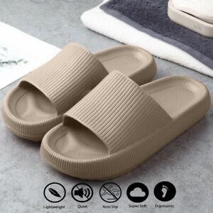 Pillow Slides Sandals Anti-Slip Ultra-Soft Slippers Soft Cloud Summer Shoes