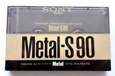 SONY METAL-S 90 TYPE IV BLANK AUDIO CASSETTE - JAPAN 1989