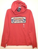 Polo Ralph Lauren Mens Red Ralph's Bait Key West Hoodie L/S T-Shirt NWT Size L