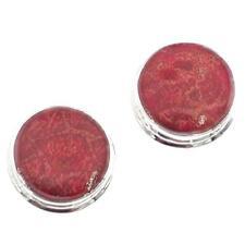 """11/16"""" GENUINE RED SPONGE CORAL 925 STERLING SILVER POST earrings"""