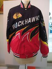 BLACKHAWK NHL JACKET COAT  CARL BANKS NWT ADULT S/M  G-III MULTI COLOR SIZE S