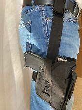 BLACK Universal Tactical Leg Holster Handgun Pistol Mag Pouch
