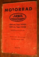 Jawa 250 350 Typ 353/04 354/04 Bedienungsanleitung Bedienungsanleitung 1961