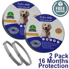 Flea and Tick Collar for Dog Over 18lbs 8 Month Protection Pro Guard 2 pack