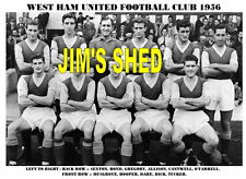 WEST HAM UNITED F.C. TEAM PRINT 1956 (Season 1955-56)
