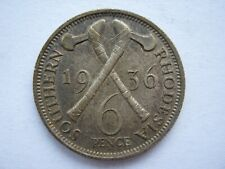 Southern Rhodesia 1936 Sixpence GVF with toning