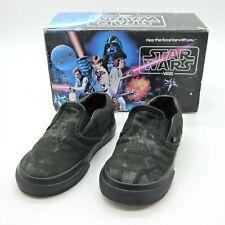 Vans Black Star Wars Classic Slip On Infant Size 6 Darth Vader Rare