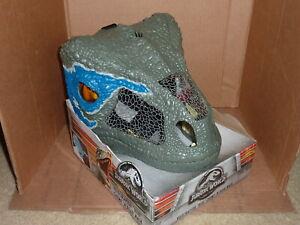 """Jurassic World Chomp 'n Roar Mask Velociraptor """"Blue"""" NEW"""