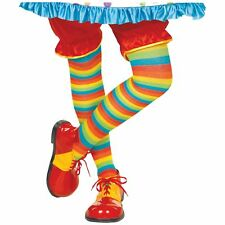 Rainbow Classic Striped Clown Tights Multi Colour Womens Fancy Dress Hosiery