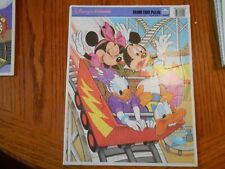 DISNEY FRIENDS ON ROLLER COASTER Frame Tray Puzzle by GOLDEN
