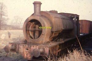 Original 35mm slide Hunslet 0-6-0ST 1496 THE DEAN withdrawn Pen Hill Farm 1965
