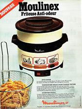 Publicité Advertising  078  1978   friteuse éléctrique anti-odeur Moulinex