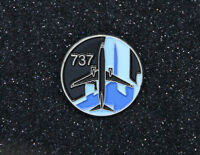 Pin BOEING Round Logo BOEING 737 Pin for Pilots metal Black/Blue tie tack B737