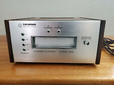 Vintage Sylvania Eq3755 8 Track Player 2/4 Track Capable Tested & Working Vg+