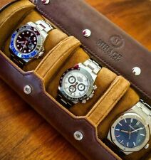 Watch Roll - Watch Case Display Travel Organizer for Men Women -ESPRESSO -MIRAGE