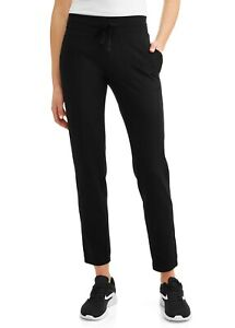 Athletic Works Women's Athleisure Core Knit Pants, Black Soot, XXL (20)