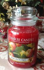 LARGE YANKEE CANDLE MACINTOSH 22 OZ Glass Jar USA MADE