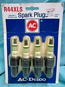 4 AC Delco Spark Plugs R44XLS -4B, New