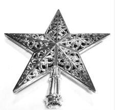 Xmas Shiny Tree Star Topper Ornament Decorations Star Silver