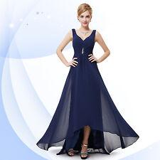 Ever-Pretty V Neck Evening Party Long Maxi Dress 09983 Size 4 Navy Blue 18