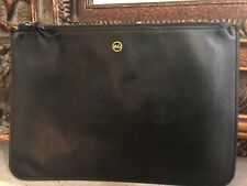 AG Adriano Goldschmied Black Leather Pouch w Zipper Closure NEW w/out Tags!