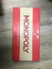 Vintage Waddingtons Monopoly Original Classic Red Box 1960s Family Board Game