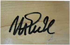Magic Johnson Signed Auto approx 1.5 X 2 Inch  Game Used Forum Floor Beckett