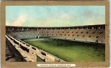 CAMBRIDGE, Massachusetts  MA   HARVARD STADIUM  Gold Bolder  c1910s    Postcard