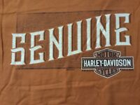 Harley Davidson Genuine Burnt Orange Shirt Nwt Men's XL
