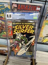 Silver Surfer #11 CGC 8.0 -- 1969 --  Buscema. Adkins. Stan Lee White Pages 🔥
