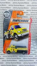 MATCHBOX FREIGHTLINER M2 106 PUMPER FIRE & EMERGENCY VEHICLE MBX RESCUE YELLOW