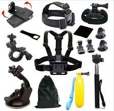 Head Chest Mount Floating Monopod Pole Accessories Go Pro kit Hero  2 3 4 Camera