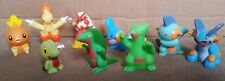 Lot of 9 Bandai Pokemon Finger Puppets Ruby Sapphire Starters Blaziken Swampert