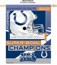 INDIANAPOLIS COLTS FOOTBALL 2006 SUPER BOWL FLAG BANNER