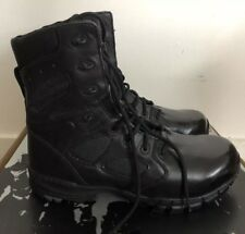 "NEW ALTAMA Mens Black 8"" Lace Up Military Boots 11.5W Ortho-Tactical Style 3568"