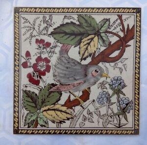 Victorian style bird tile.