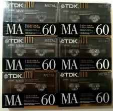 Cassette Tapes Blank - 6x TDK Ma 60 Sony metal XR 60