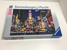 Ravensburger Puzzle 1000 Piece Jigsaw Puzzle Times Square NYC No. 19 208 3 EUC